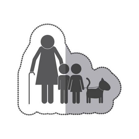 Cute family pictogram icon vector illustration graphic design Illustration