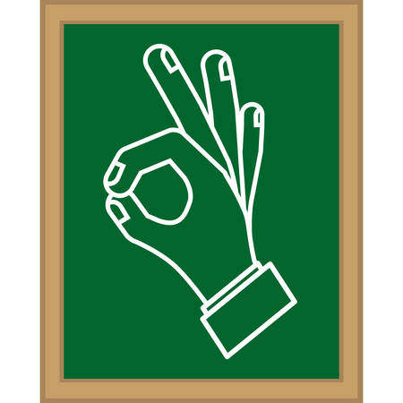 child holding sign: Human hands doing a symbol icon vector illustration graphic design