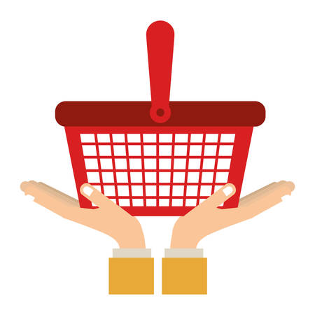 Go shopping concept icon vector illustration graphic design