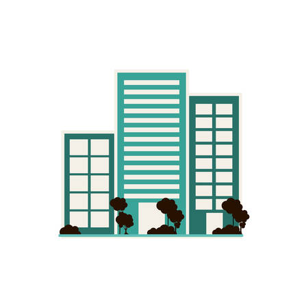 urbanization: City Urban buildings vector illustration graphic design