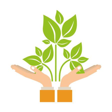 turismo ecologico: Leaves think green icon vector illustration graphic design