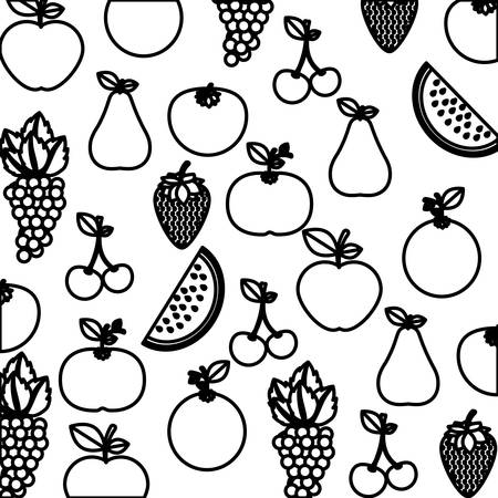 foodstuff: Delicious and fresh fruits icon vector illustration graphic design