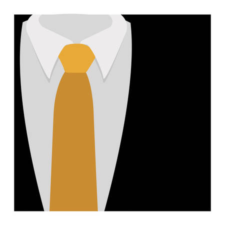 fullbody: color silhouette with formal suit and tie close up vector illustration