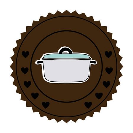 color round frame with pans vector illustration Illustration