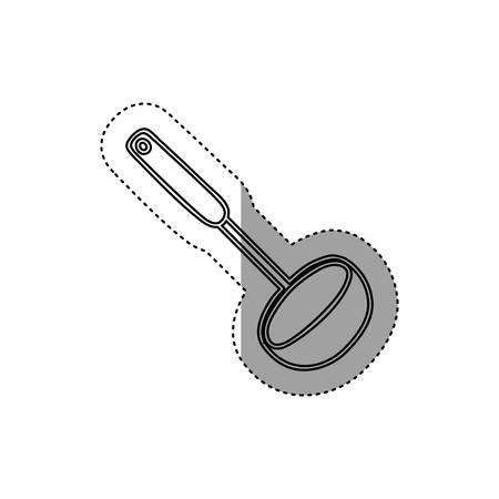 sticker silhouette soup ladle utensil kitchen vector illustration Illustration