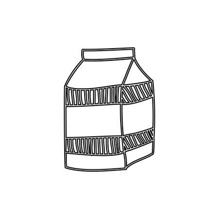 envase de leche: silhouette milk carton drink icon vector illustration