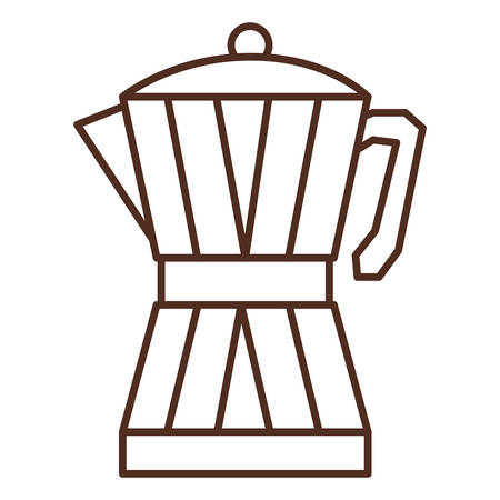 glass jar: silhouette glass jar of coffee with handle vector illustration