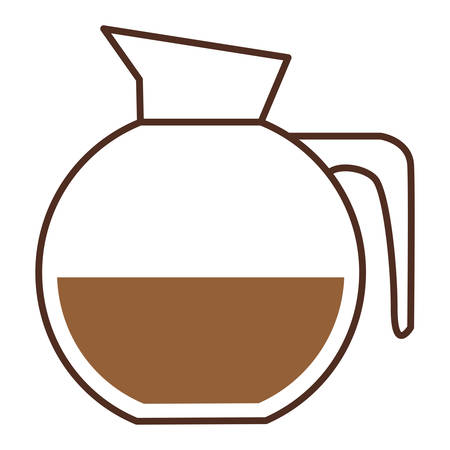 glass jar of coffee with handle vector illustration