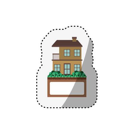 House real estate icon vector illustration graphic design