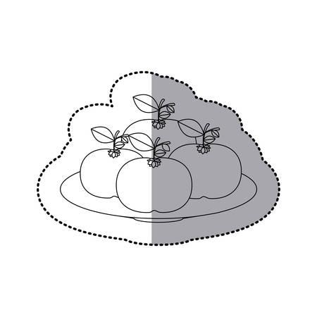 mandarins: Delicious mandarins fruits icon vector illustration graphic design