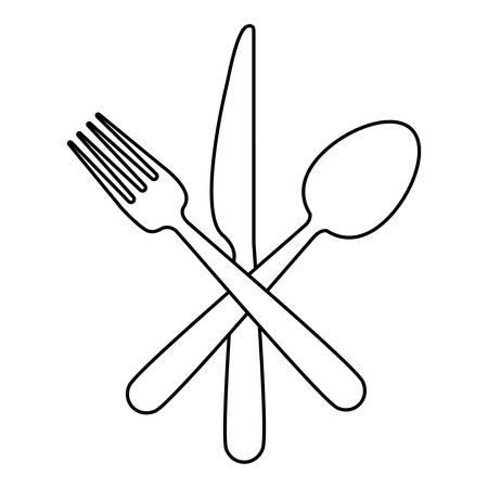 Restaurant cutlery utensils icon vector illustration graphic design