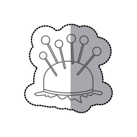 Sewing equipment and tools icon vector illustration graphic design
