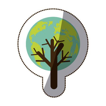 Save the world icon vector illustration graphic design Illustration
