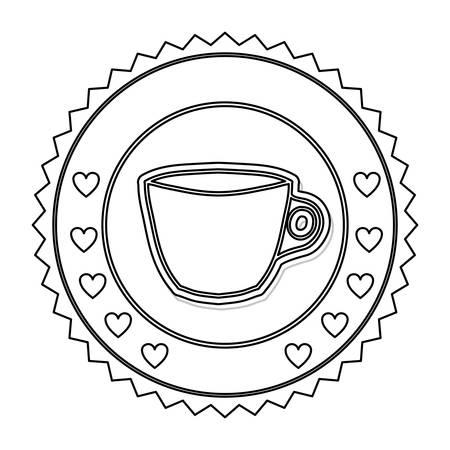 wares: Porcelain mug cup icon vector illustration graphic design