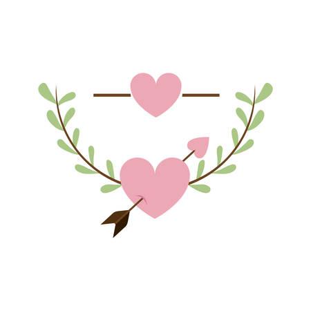 pink true love icon image, vector illustration