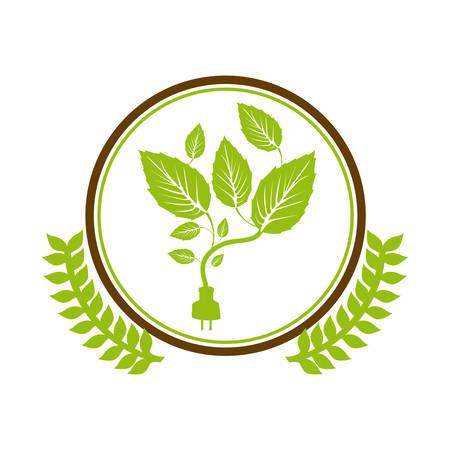 Símbolo deja conservancy icono de la imagen, ilustración vectorial Foto de archivo - 71272865