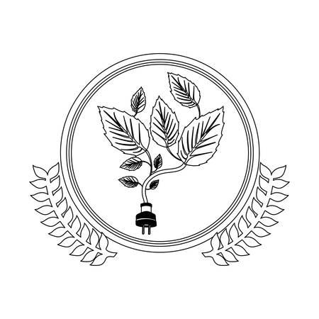 Símbolo deja conservancy icono de la imagen, ilustración vectorial Foto de archivo - 71238837