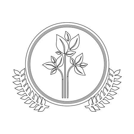Símbolo deja conservancy icono de la imagen, ilustración vectorial Foto de archivo - 71266017