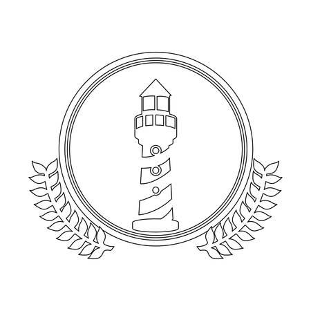 symbol figure lighthouse icon image, vector illustration