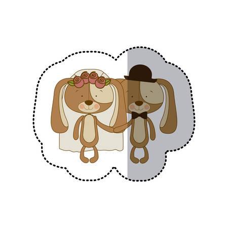 labrador: dogs married icon image, vector illustration design Illustration