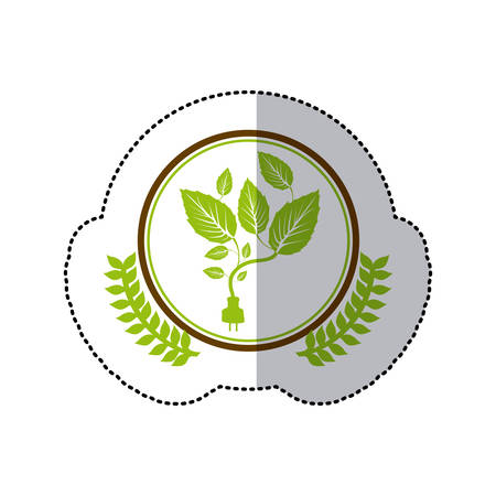 conservancy: symbol leaves conservancy icon image, vector illustration