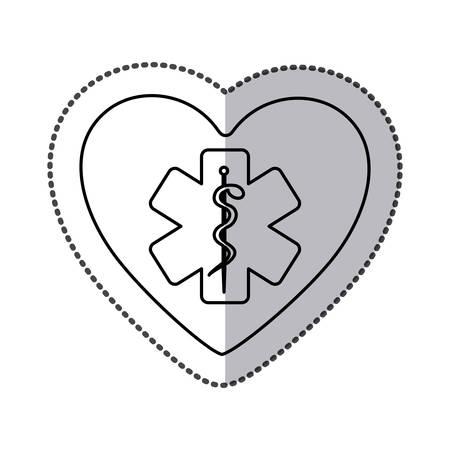 simbolo medicina: Símbolo de medicina dentro del corazón icono, ilustración vectorial diseño