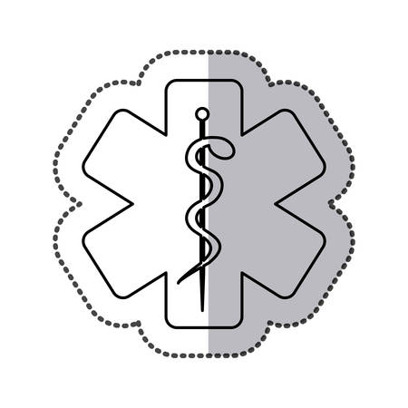 star with medical sign icon, vector illustration design