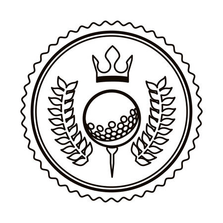 symbols: symbol golf emblem icon image, vector illustration Illustration