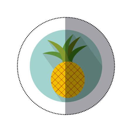 pineapple fruit icon image, vector illustration design Illustration