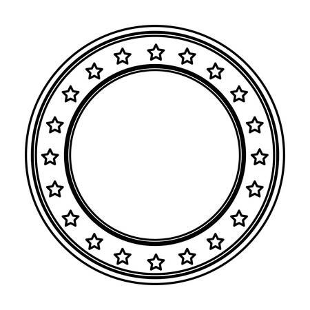 laying: contour wall decor icon image, vector illustration Illustration