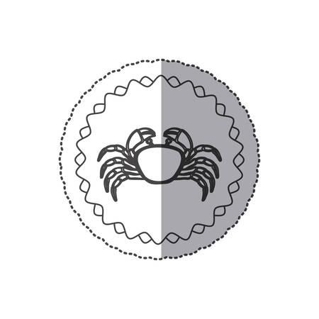 Seafood round stamp icon vector illustration graphic design