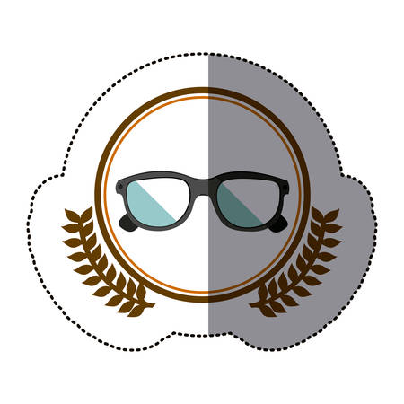 symbol glasses icon image, vector illustration design Illustration