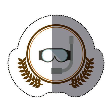 symbol diving goggles icon image, vector illustration Illustration