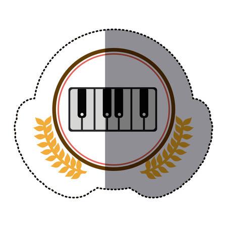 symbol piano icon stock, vector illustration design