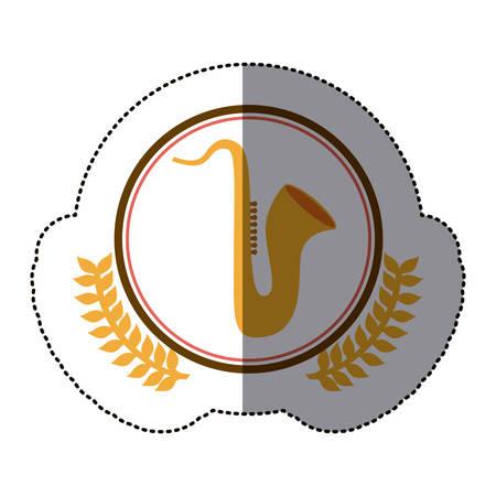 xilofono: diseño de icono de símbolo de saxofón, imagen de ilustración vectorial
