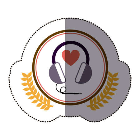 portable audio: symbol headphone icon image, vector illustration design