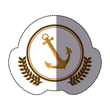 symbol anchor ships icon image, vector illustration Stock Photo