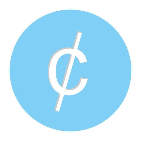 cent penny currency symbol icon image, vector illustration