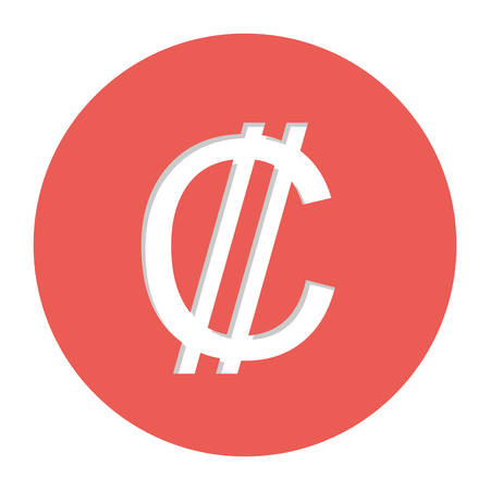 lira: Colon currency symbol icon image, vector illustration Illustration
