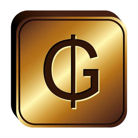 paraguayan guarani currency symbol icon, vector illustration