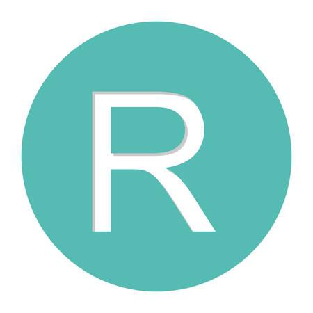 rand currency symbol icon image, vector illustration Illusztráció