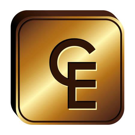ECU currency symbol icon image, vctor illustration