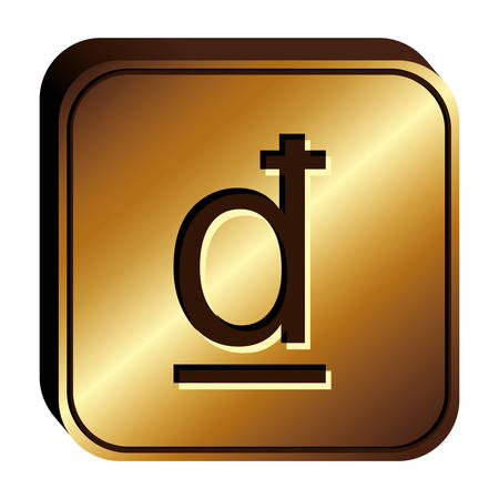 dong currency symbol icon image, vector illustration Illustration