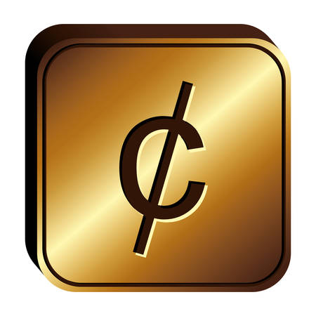 penny: cent penny currency symbol icon image, vector illustration