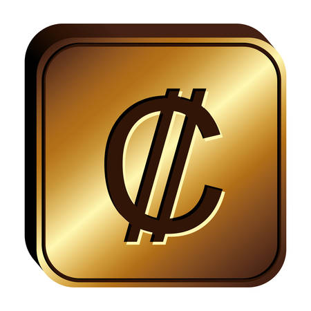 Colon currency symbol icon image, vector illustration Illustration