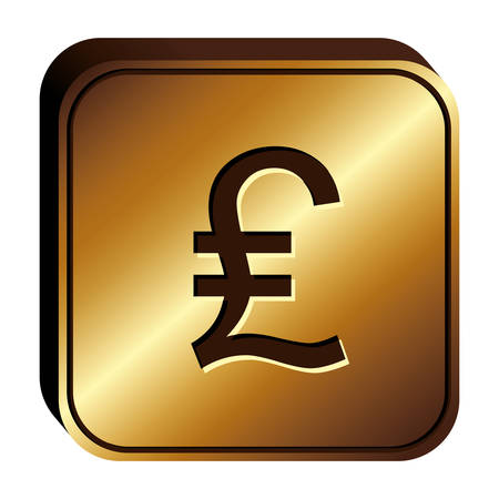 Lira currency symbol icon image, vector illustration Ilustração Vetorial