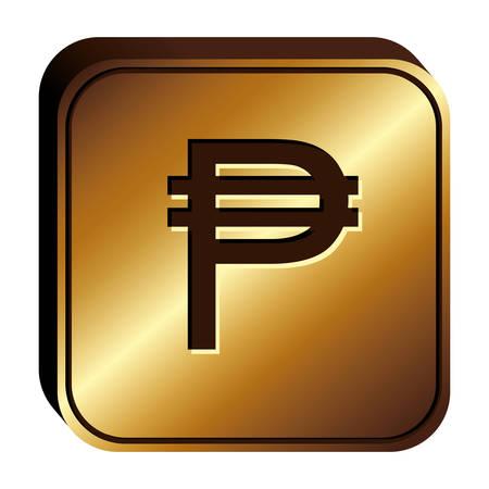 pesos valuta symbool pictogramafbeelding, vector illustratie