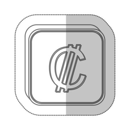 renminbi: Colon currency symbol icon image, vector illustration Illustration
