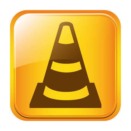 road traffic cone symbol icon image, vectoor illustration Illustration