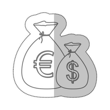 ユーロとドルの通貨シンボル アイコン イメージ、ベクトル イラスト